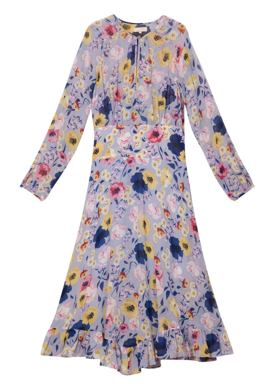 74887ed53b87 BYTIMO - Semi Couture Dress Flora Blue - Feel Good Store