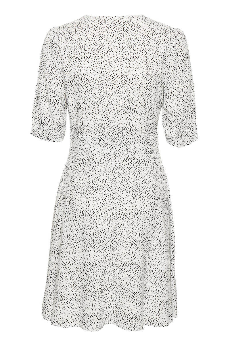 74572219 GESTUZ - Cathrin GZ Dress White with black dots - Feel Good Store