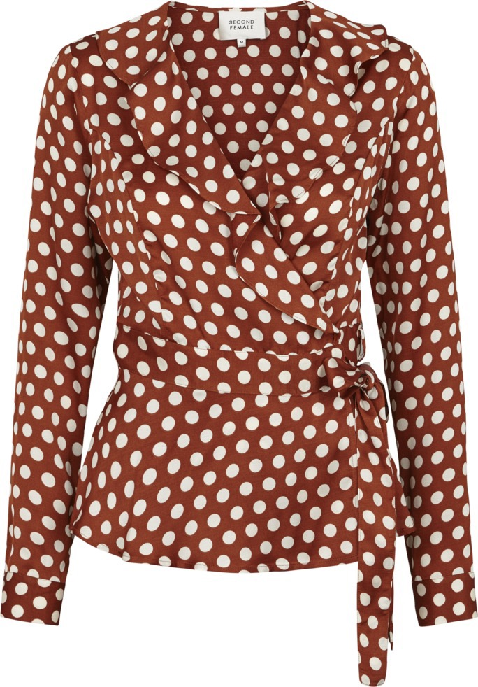 9dbba75d0bf8 SECOND FEMALE - Spotty Wrap Blouse - Feel Good Store
